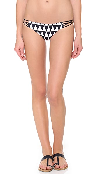 PilyQ Black Diamond Bikini Bottoms