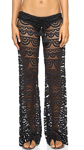Pilyq Malibu Lace Pants - Black