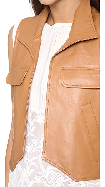 Piper Gore Chloe Cognac Leather Vest