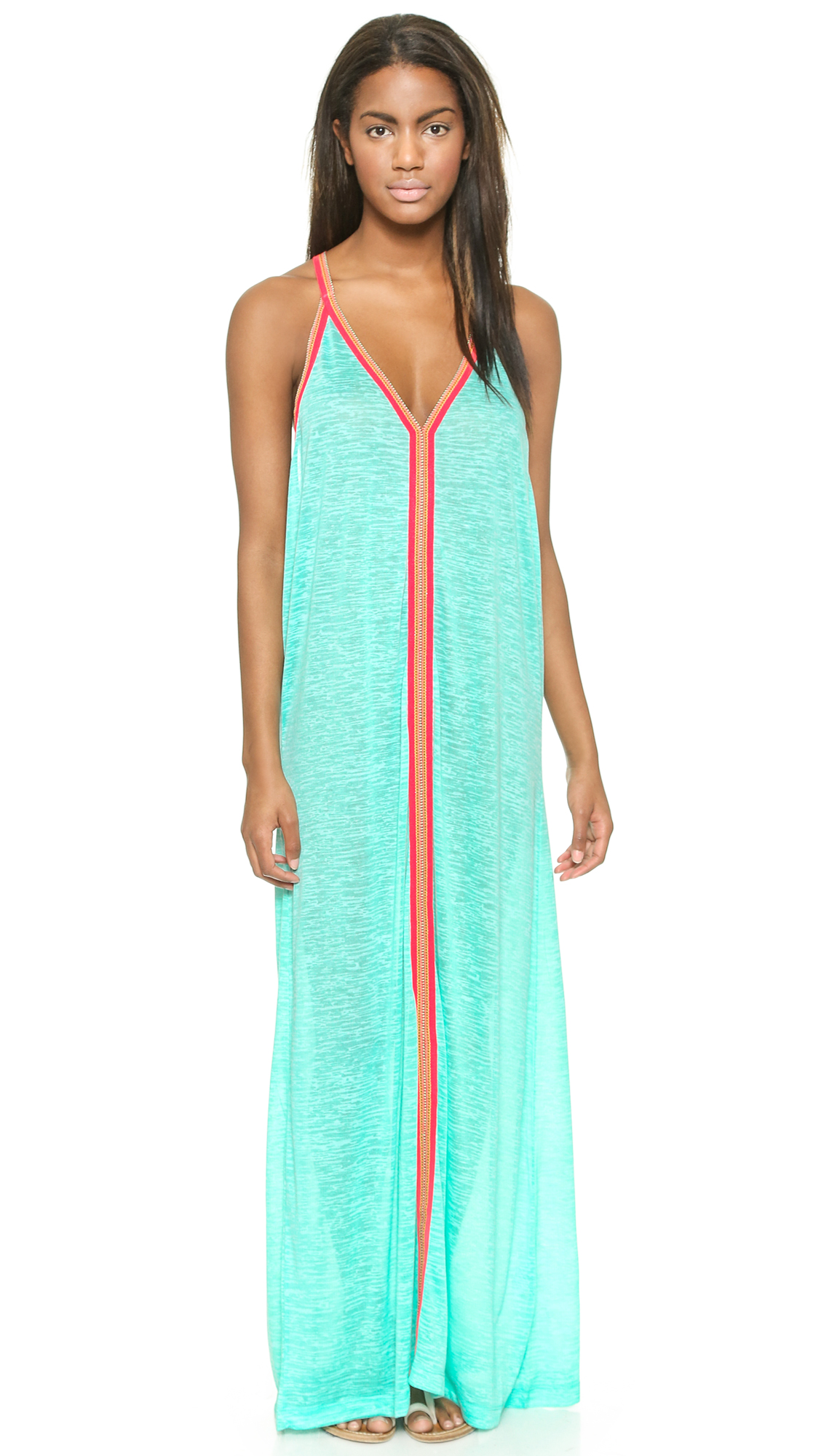 Pitusa Sun Maxi Dress - Mint