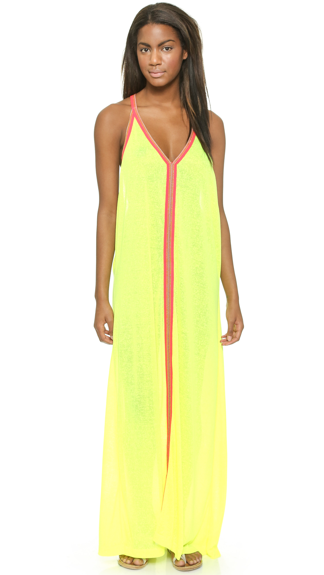 Pitusa Sun Maxi Dress - Lemon