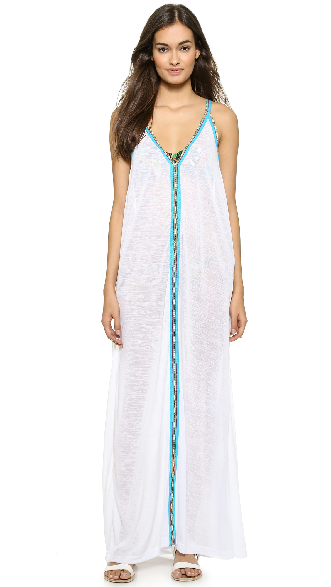 Pitusa Sun Maxi Dress - White