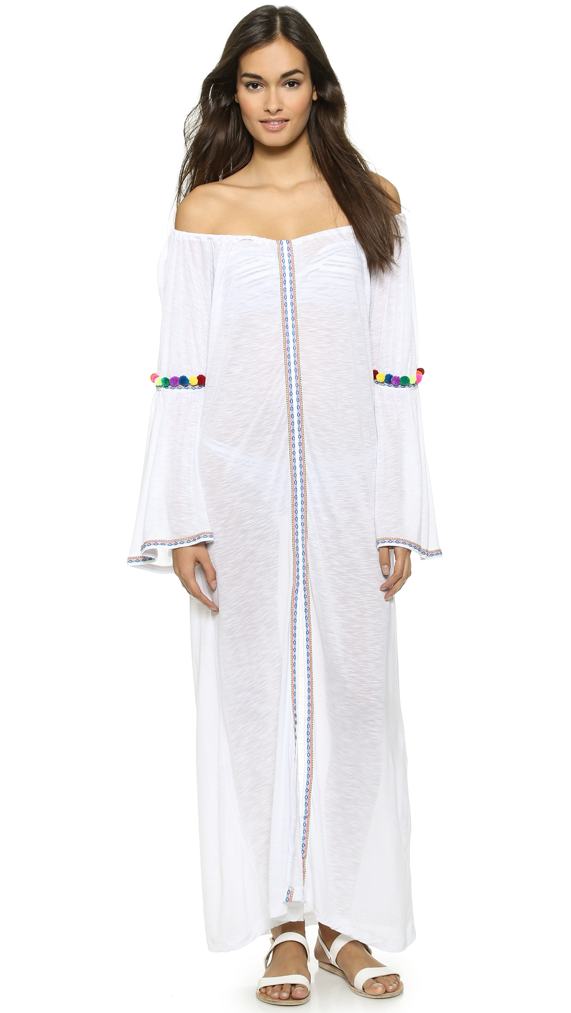 Pitusa Gypsy Maxi Dress - White