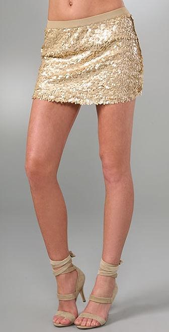 Plastic Island Le Flash Sequin Skirt
