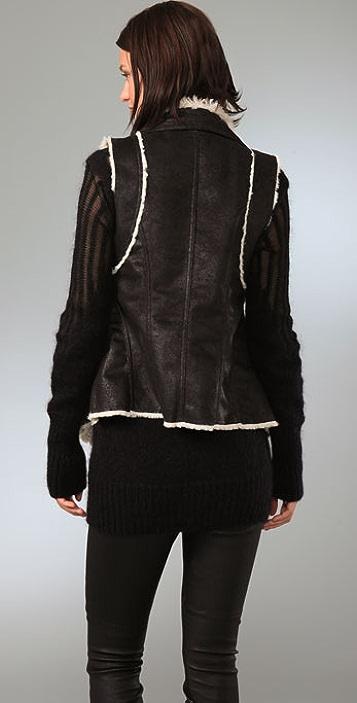Plastic Island Stoneage Faux Leather Zip Vest