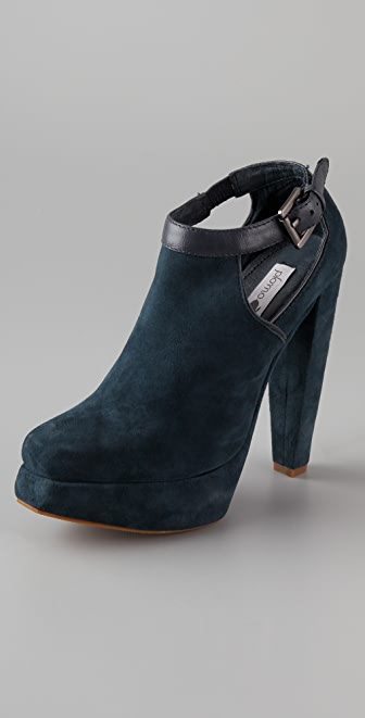 Plomo Julieta Suede Cutout Booties