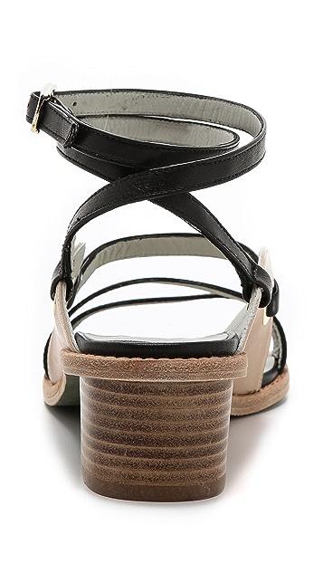 Plomo Antoinette Strappy Low Heel Sandals
