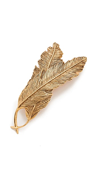 PLUIE Double Feather Barrette