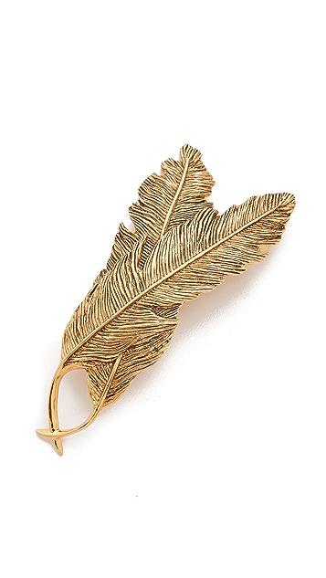 PLUIE Double Feather Barrette