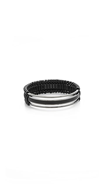 Pluma Small Woven Leather Bangle Bracelet