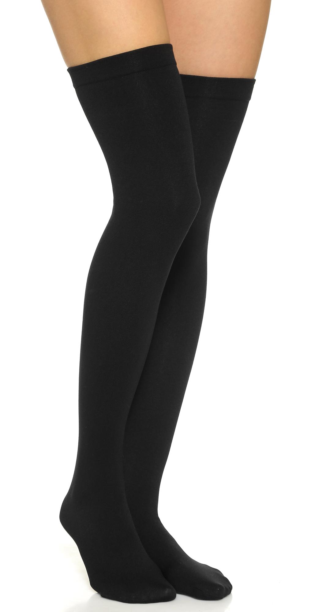 Fleece Lined Thigh Highs Plush