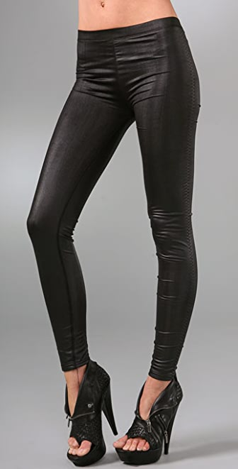 Plush Faux Leather Liquid Leggings
