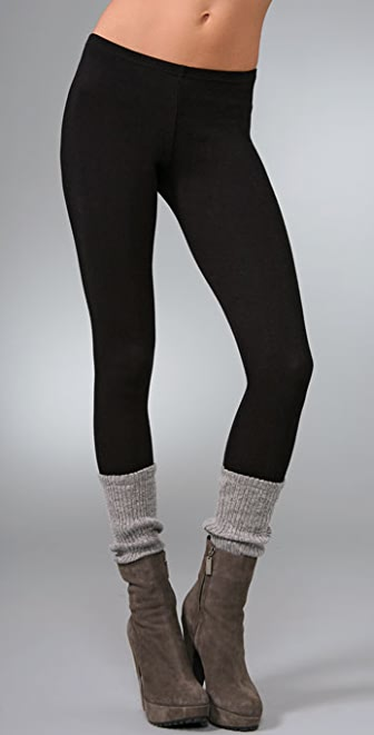Plush Legwarmer Leggings