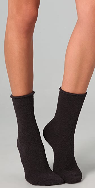 Plush Rolled Fleece Socks