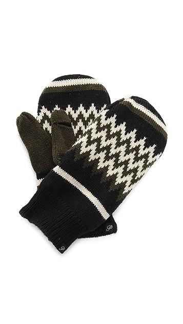 Plush Zigzag Fleece Lined Mittens