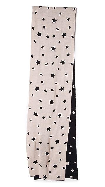 Plush Star Knit Reversible Scarf