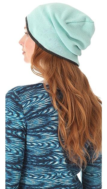 Plush Two Tone Barca Slouchy Hat