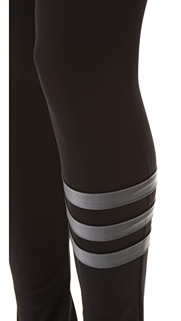 Plush Striped Leggings