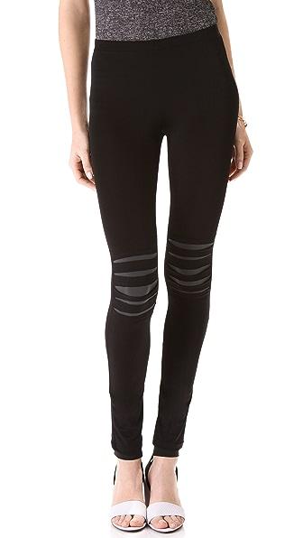 Plush Black Slash Leggings