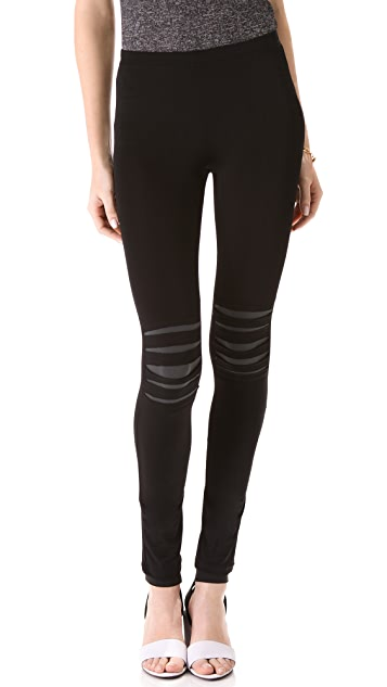 Plush Black Slash Leggings