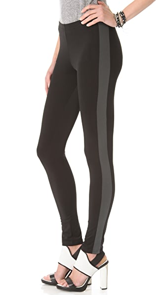 Plush Tuxedo Stripe Leggings