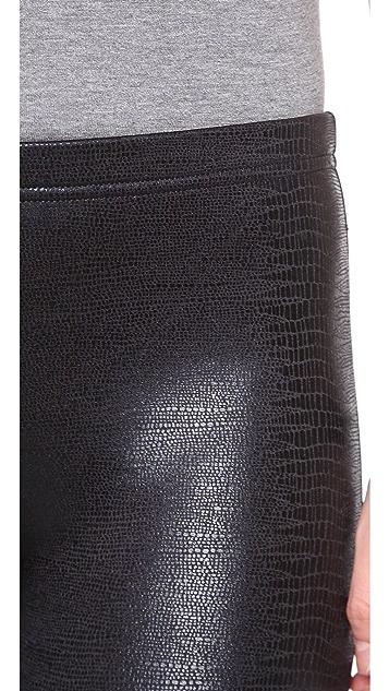 Plush Snakeskin Print Leggings