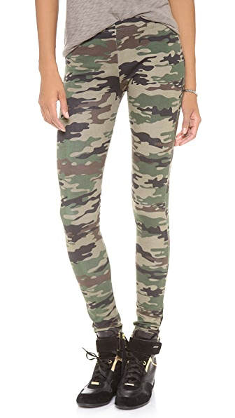 Plush Camo Print Leggings