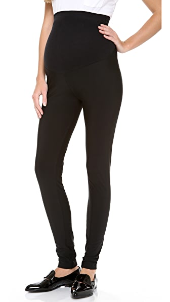 Plush Matte Spandex Maternity Leggings