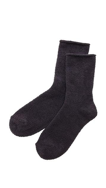 Plush Rolled Fleece Socks