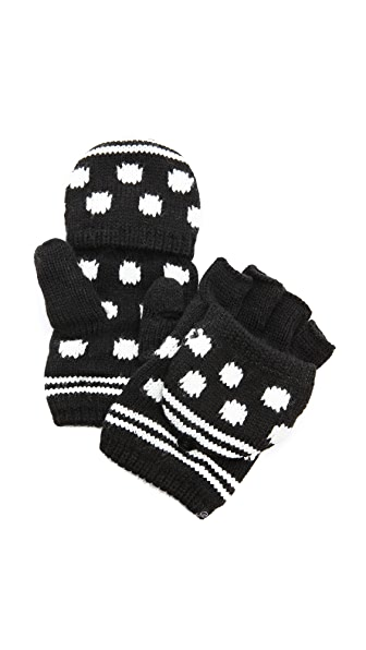 Plush Polka Dot Texting Mittens