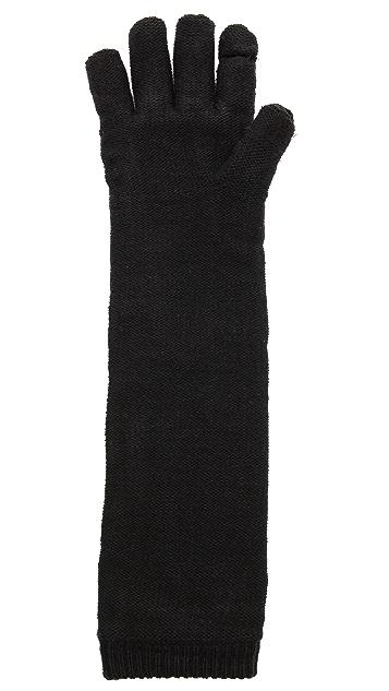 Plush Elbow Length Smartphone Gloves