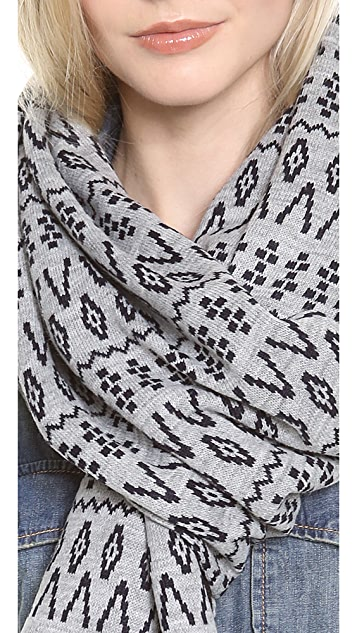 Plush Fleeced Lined Scandinavian Scarf
