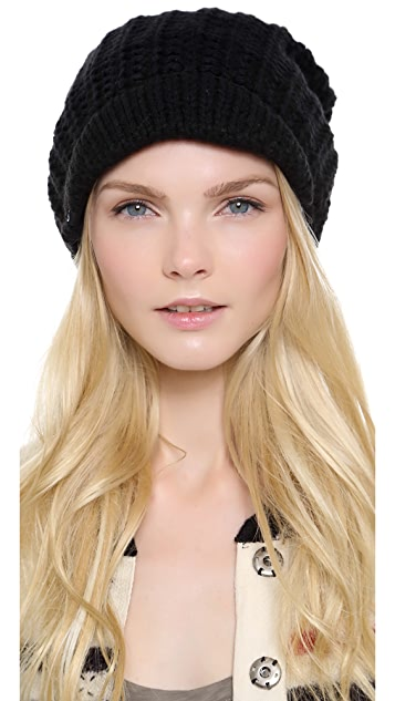 Plush Fleece Lined Brim Beanie