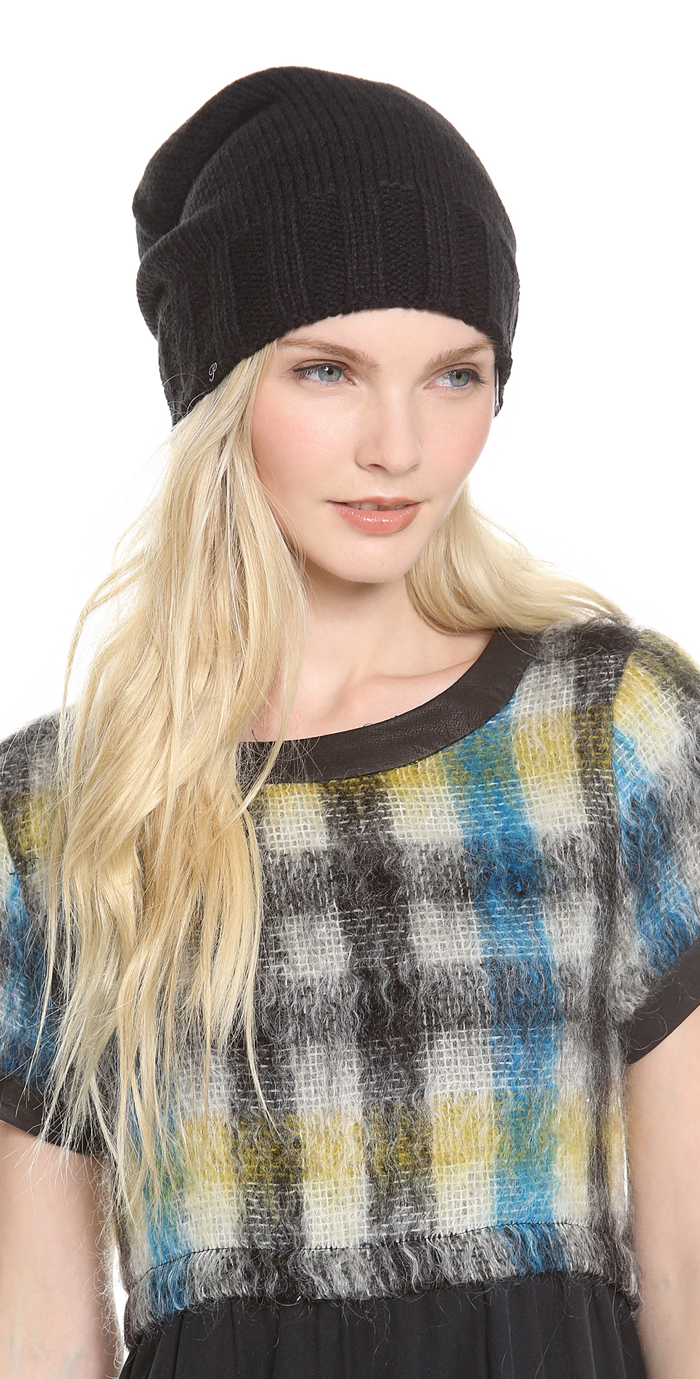 Slouchy Fleece Lined Beanie Plush