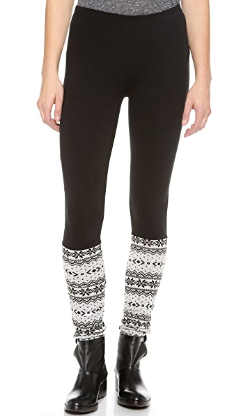 Plush Fair Isle Leggings