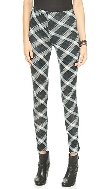 Plush Plaid Leggings