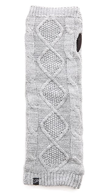 Plush Cable Knit Fleece Lined Arm Warmers