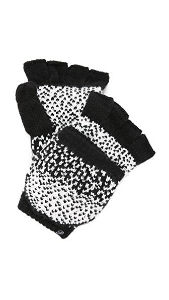 Plush Ombre Dot Texting Mittens