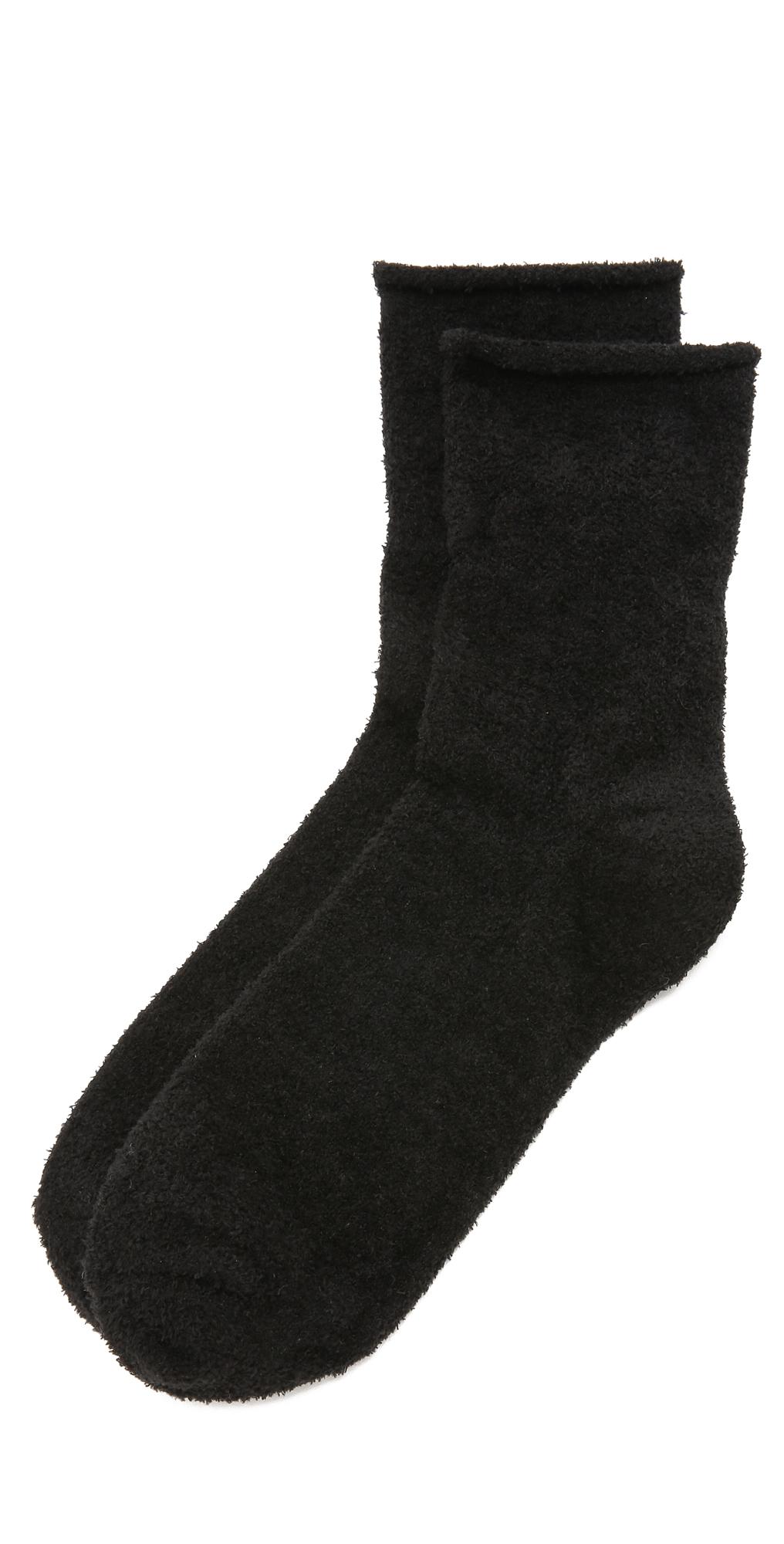 Rolled Fleece Socks Plush