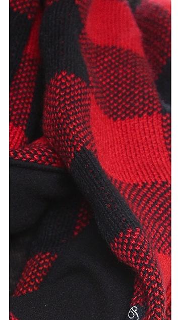 Plush Fleece Lined Plaid Infinity Scarf