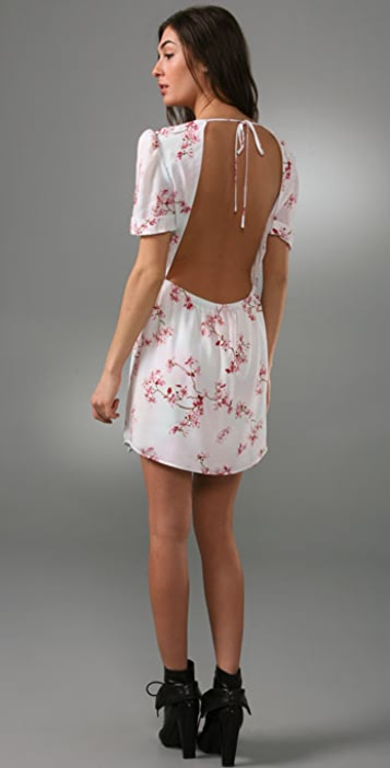 Pencey Cherry Blossom Dress with Open Back