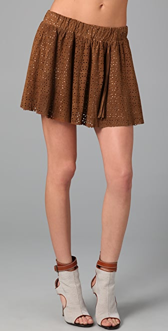 Pencey Suede Miniskirt