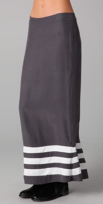 Pencey Long Skirt with Striped Bottom