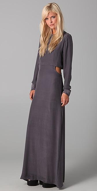 Pencey Side Cut Maxi Dress
