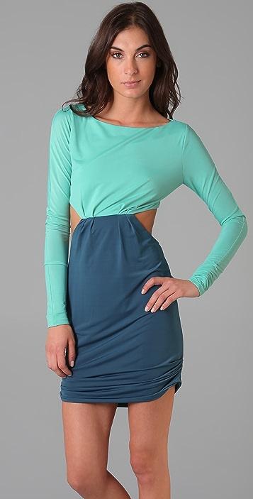 Pencey Colorblock Cutout Dress