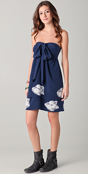 Pencey Strapless Bow Dress