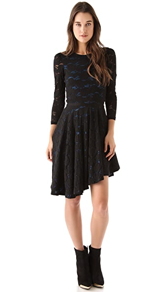 Pencey Lace Asymmetric Dress