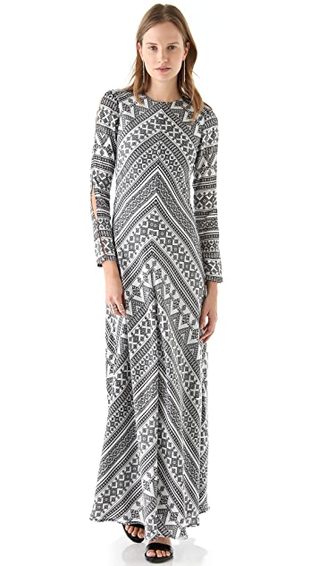 Pencey Chevron Maxi Dress