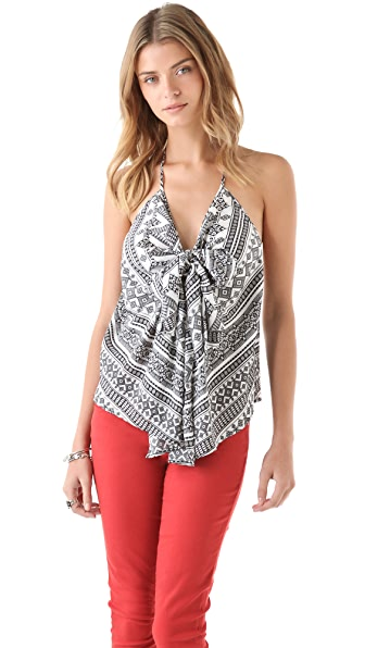 Pencey Chevron Knot Top