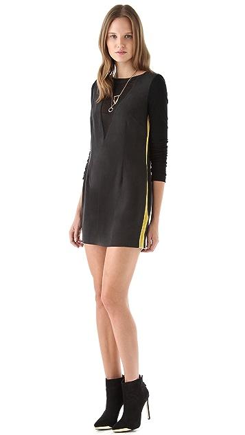 Pencey V Neck Mesh Dress